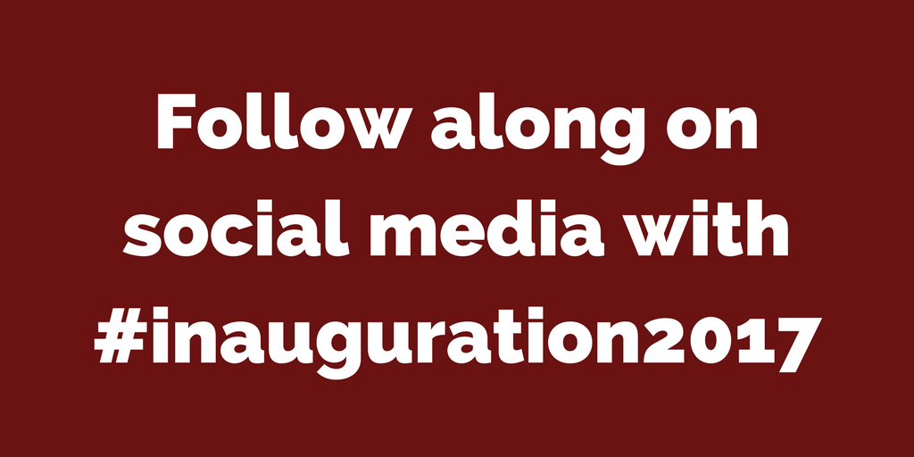 Follow along with the Inauguration on Social Media| www.classictasselsandmore.com
