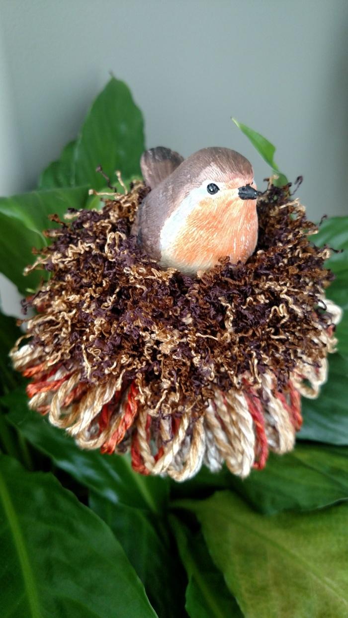 Orange Chested Bird Potsticker | $28.95 | www.classictasselsandmore.com