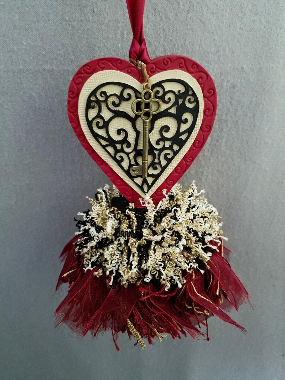 Valentine Lock Heart Tassel | www.classictasselsandmore.com